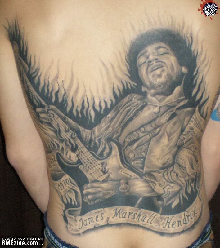 1 jimi hendrix tatto