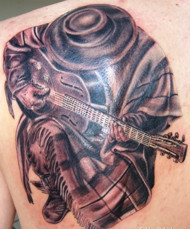 9 stevie ray vaughan in step tattoo